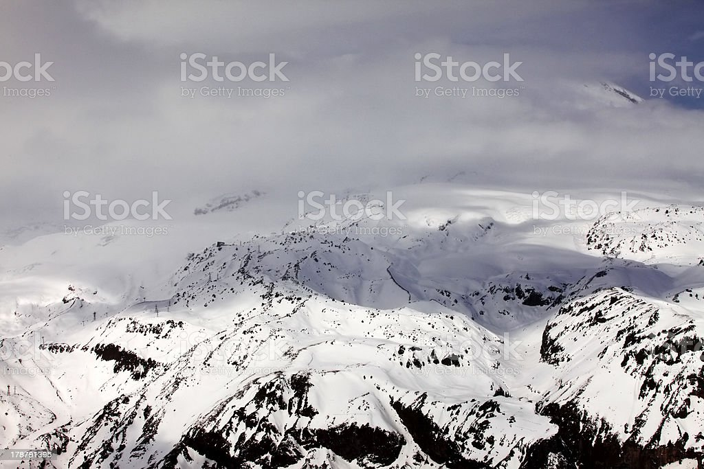 Mountains in clouds royalty-free stock photo