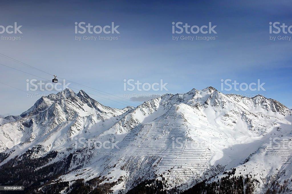 Mountains in Europe stock photo