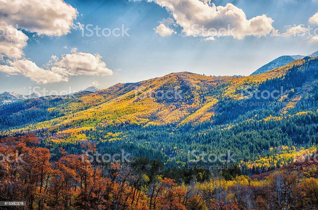 Mountains en automne photo libre de droits