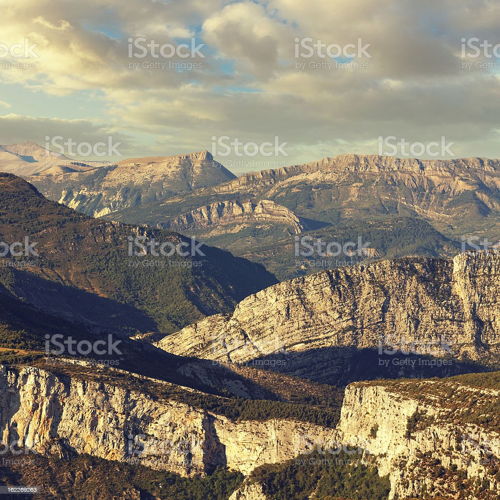 mountains in France stock photo
