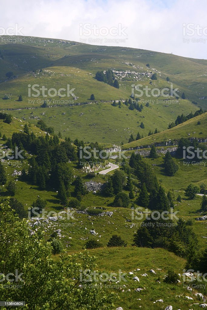 Mountains in Italy alps stock photo