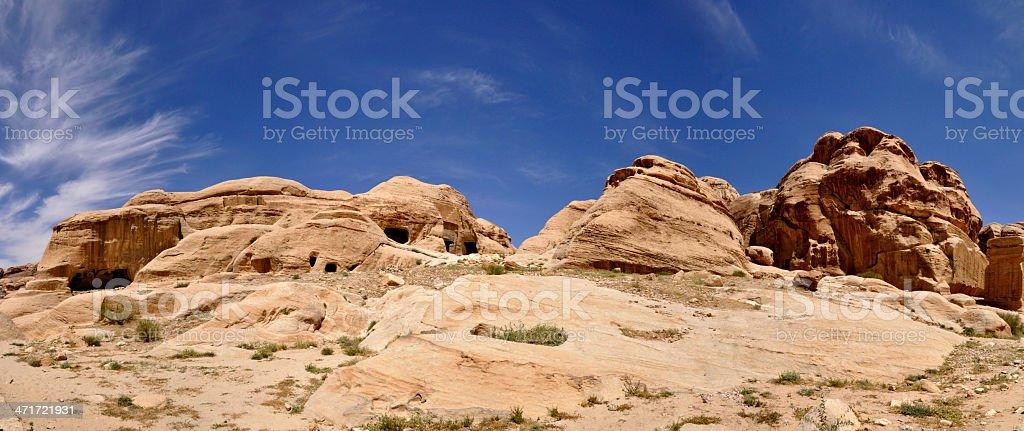 Mountains in Jordan, Petra stock photo