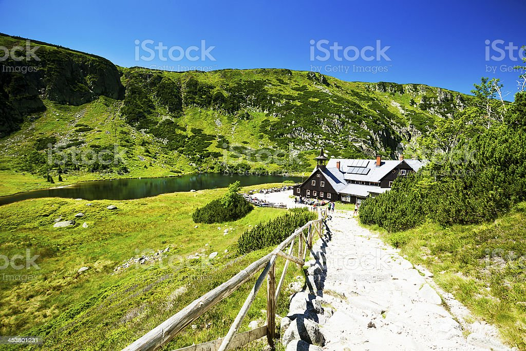Mountains in Karkonosze stock photo