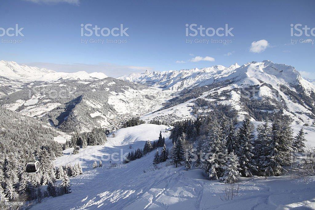 Mountains in La Clusaz, French Alps stock photo