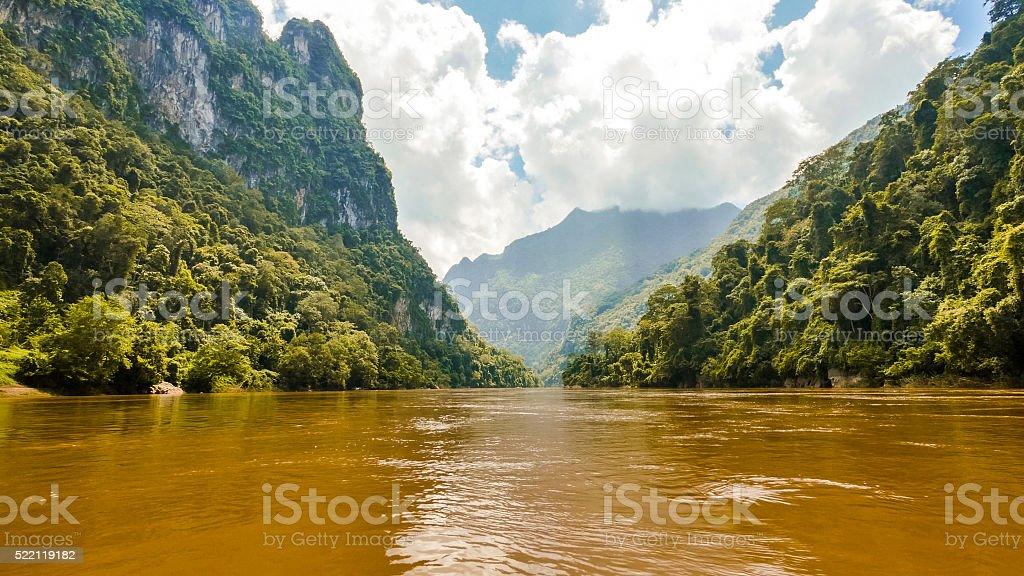 Mountains in Luang Prabang, Laos stock photo