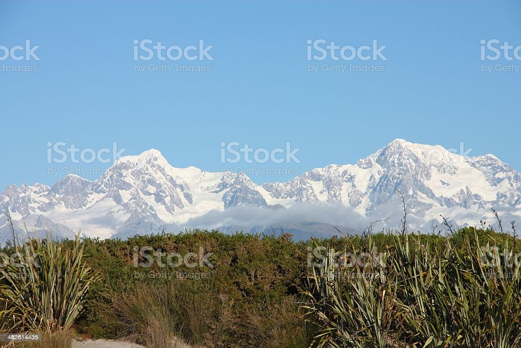 Mountains in New Zealand stock photo