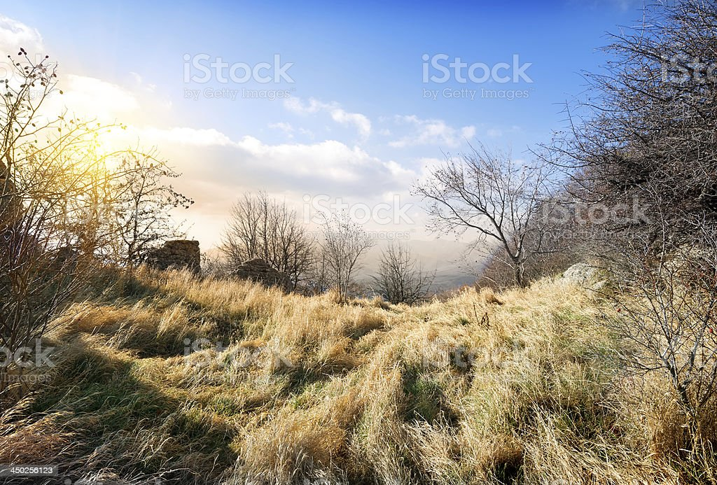 Mountains in october royalty-free stock photo