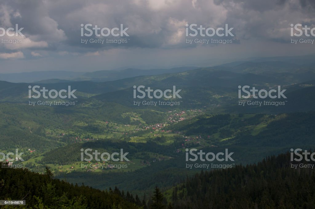 mountains in Poland - Beskidy stock photo