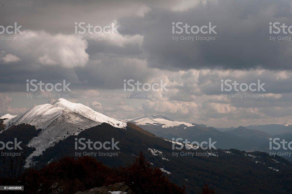 mountains in Poland - Bieszczady stock photo