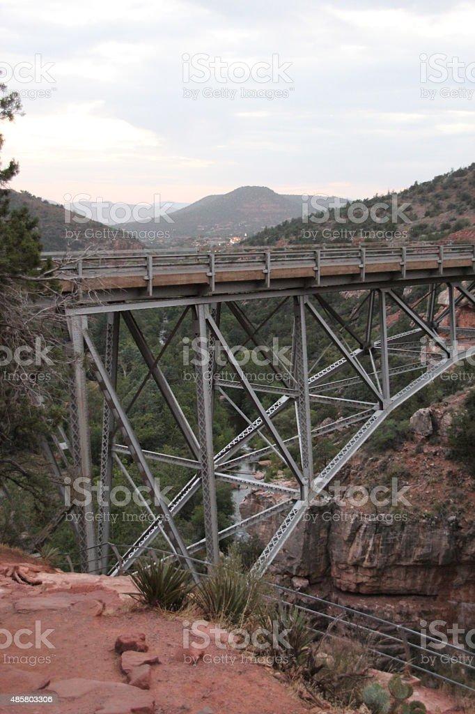 Las montañas en Sedona Arizona at Sunset foto de stock libre de derechos