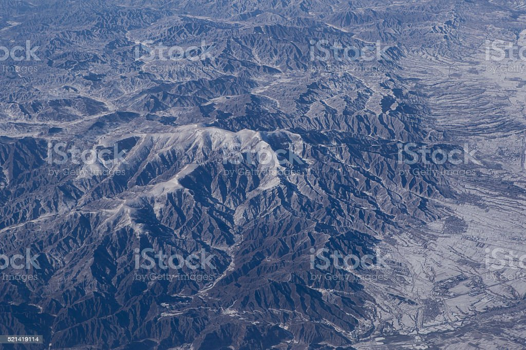 Mountains in Shanxi Province China stock photo