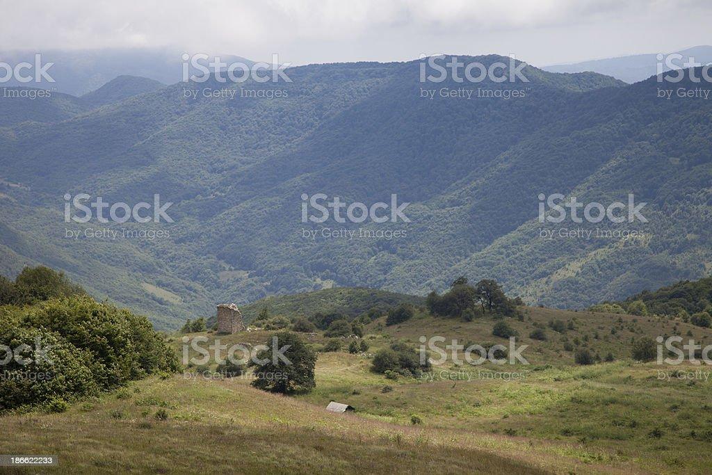 Mountains in South Ossetia stock photo