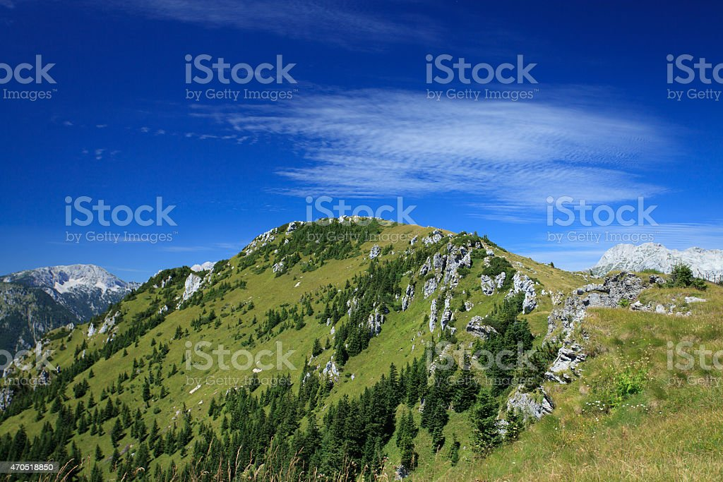 Mountains in summer stock photo