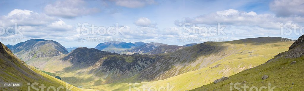 Mountains in sunshine and shadow royalty-free stock photo