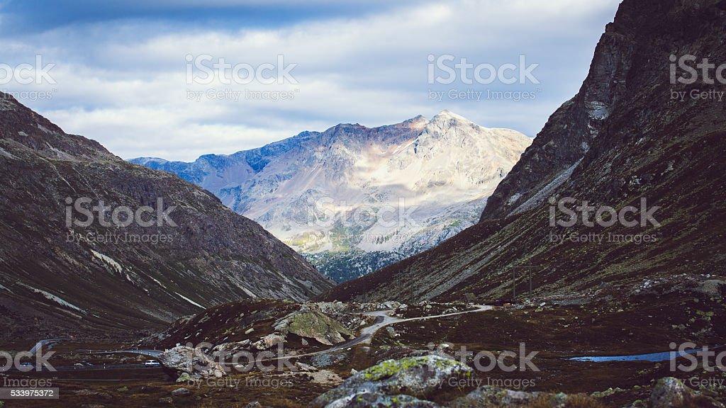 Mountains in Switzerland stock photo