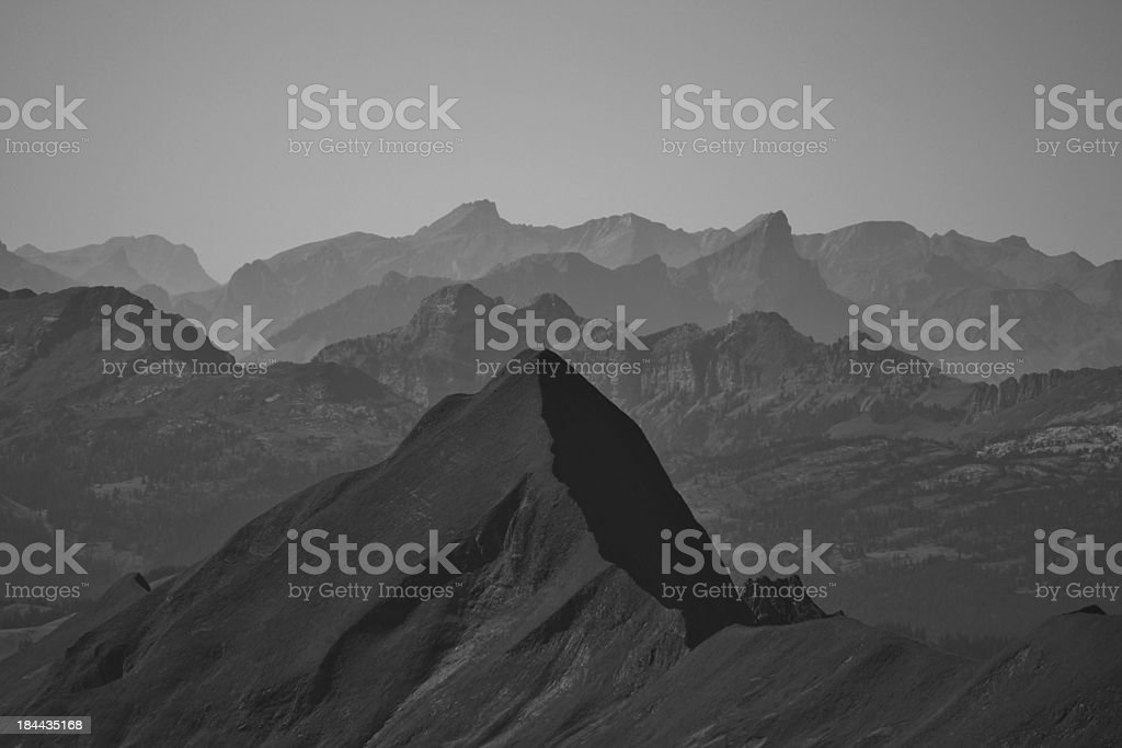 Mountains in the Bernese Oberland royalty-free stock photo