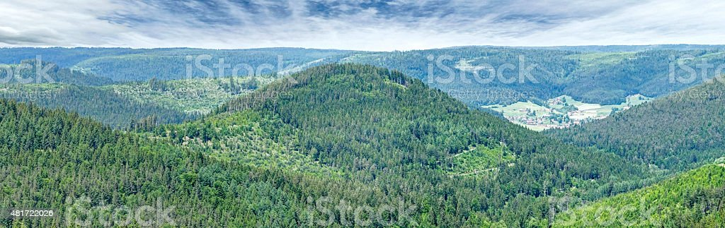 Mountains in the Black Forest on a spring day stock photo