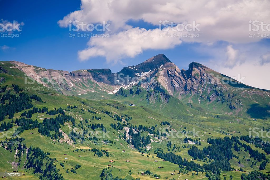 Mountains in the Canton of Bern, Switzerland royalty-free stock photo