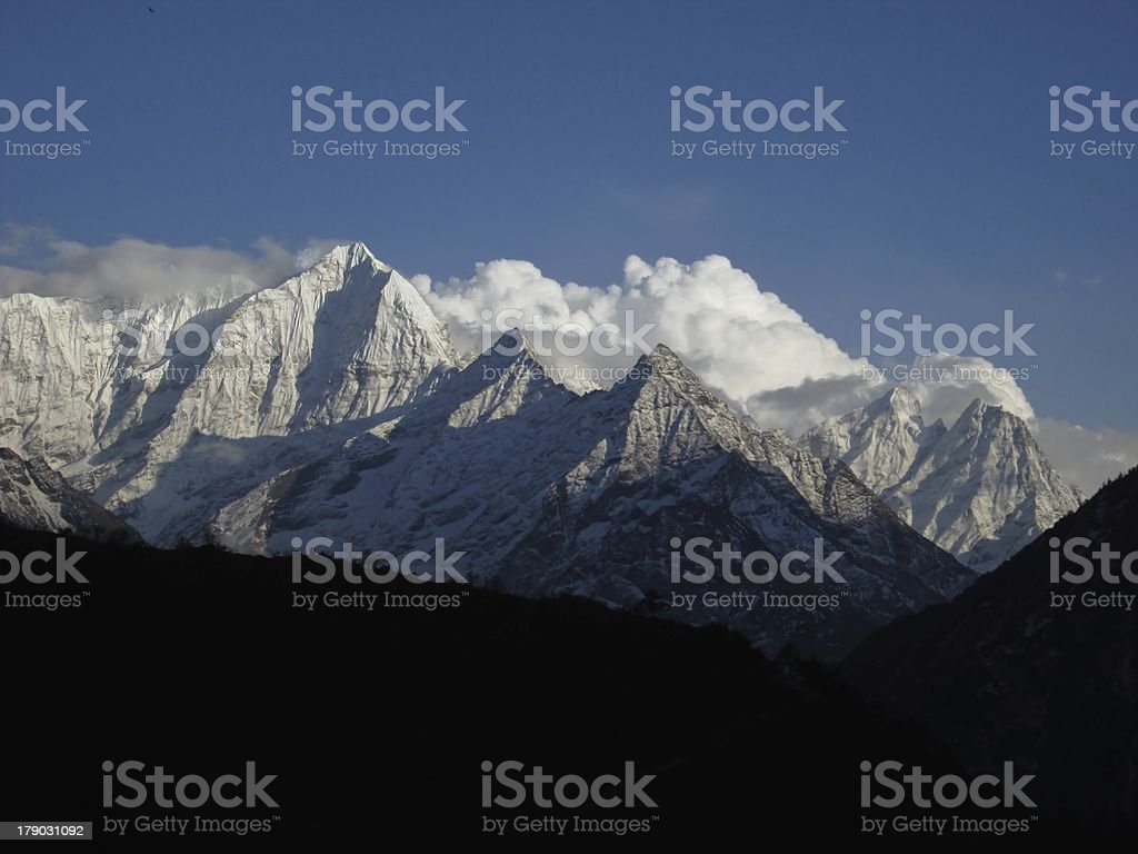 Mountains in the evening royalty-free stock photo