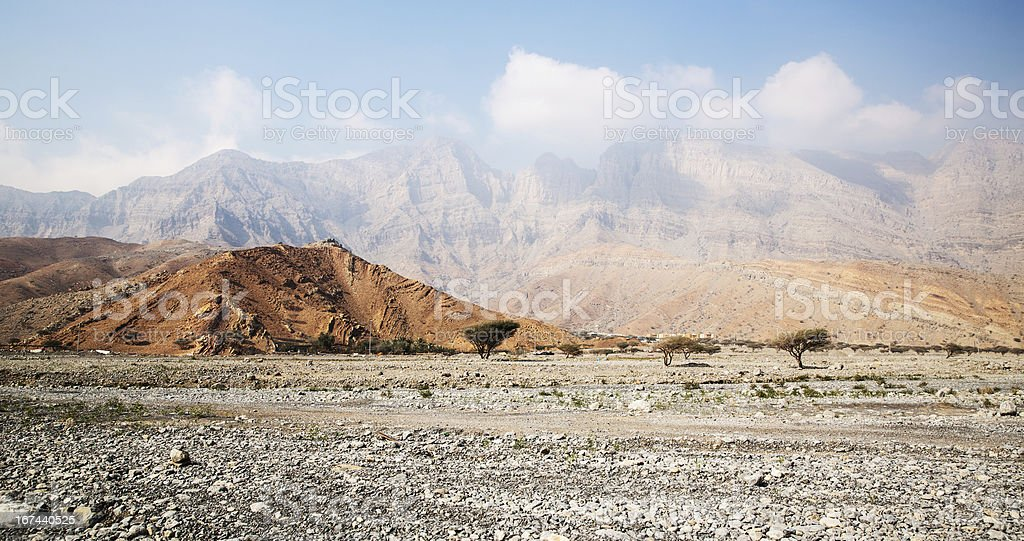 Mountains in the Middle East royalty-free stock photo