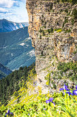 Mountains in the Pyrenees, Ordesa Valley National Park, Aragon,