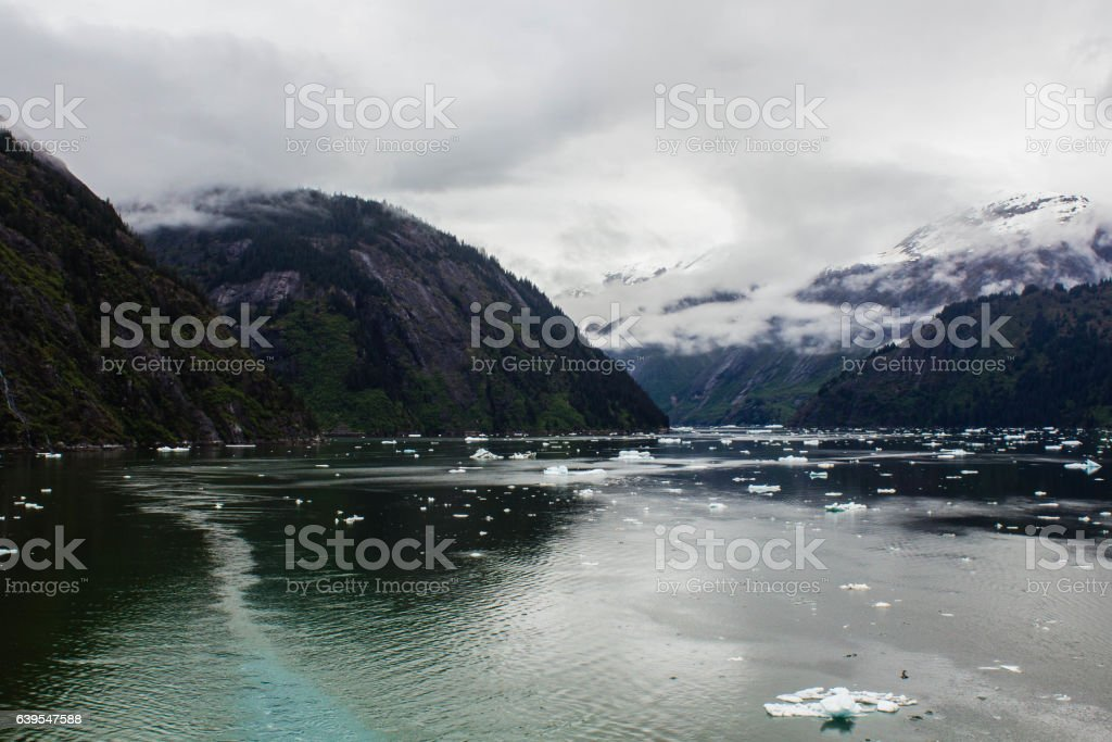 Mountains in Tracy Arm stock photo