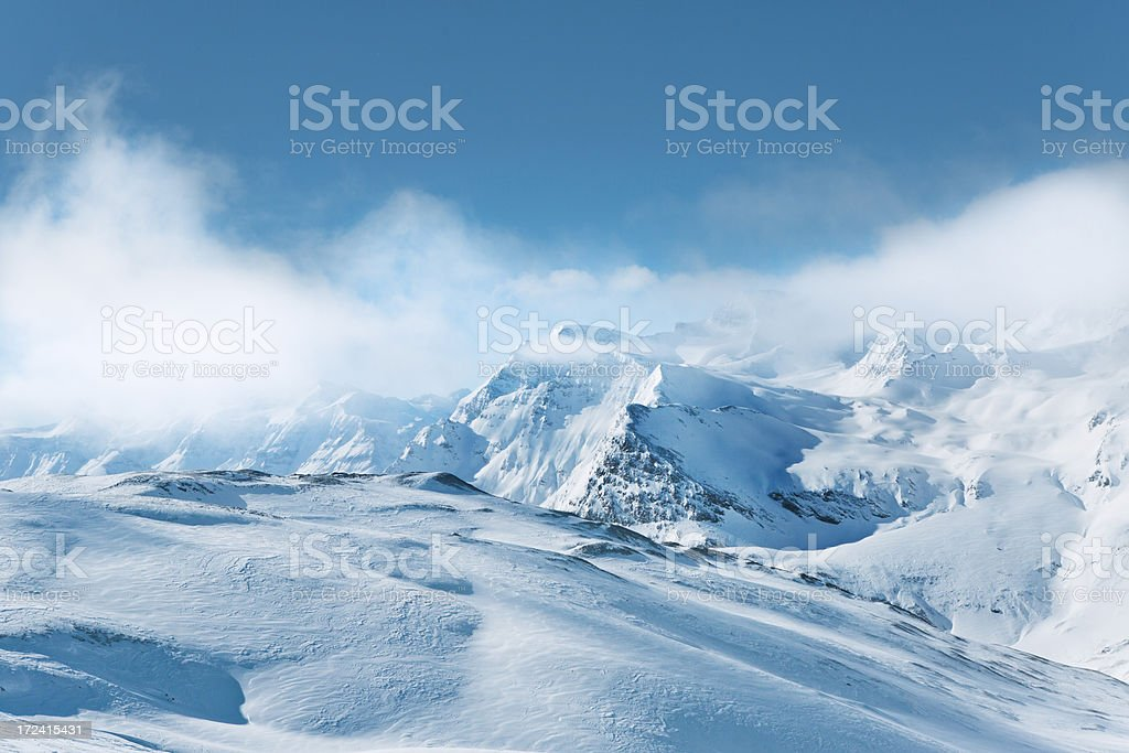 Mountains in Val d'Isere, France stock photo