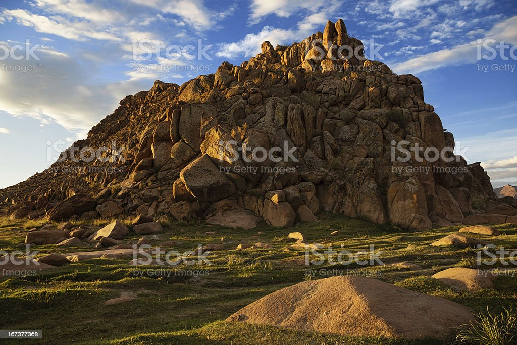 Mountains in Western Mongolia royalty-free stock photo