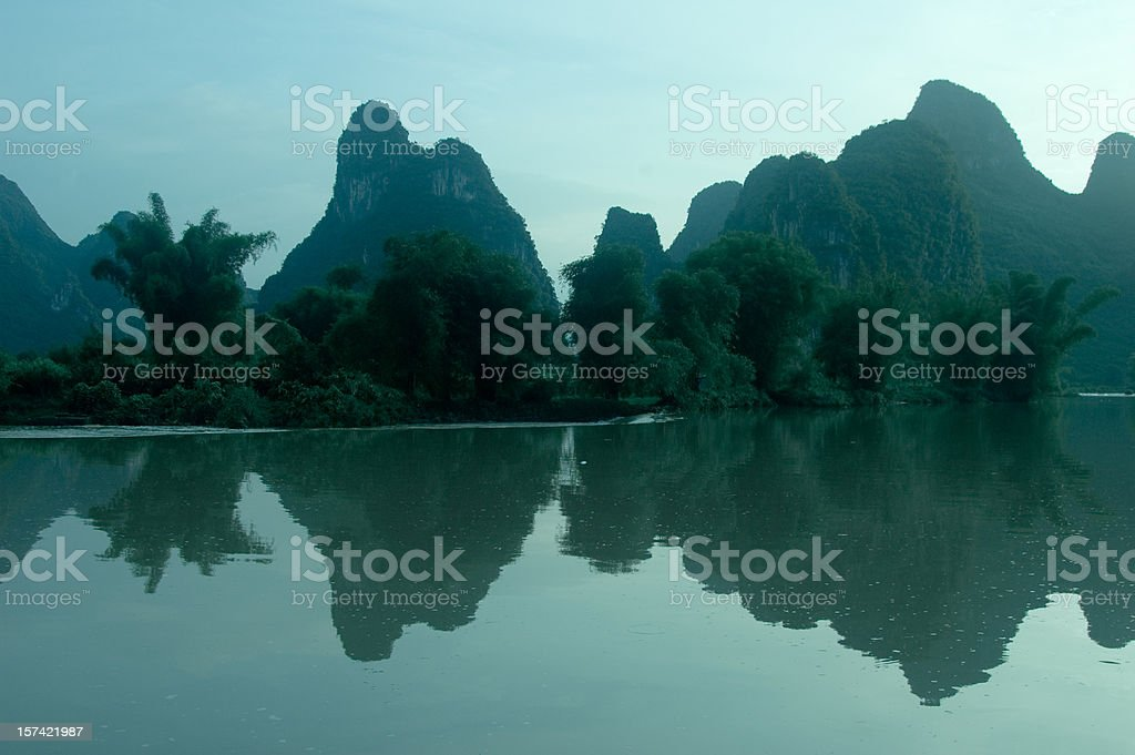 Mountains in Yangshuo royalty-free stock photo