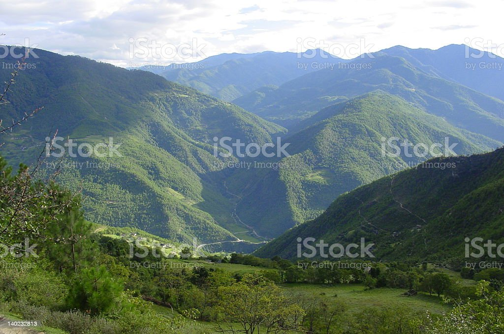 mountains in Yunnan royalty-free stock photo