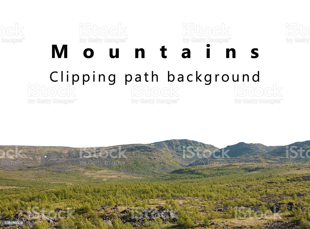 Mountains isolated background with clipping path stock photo