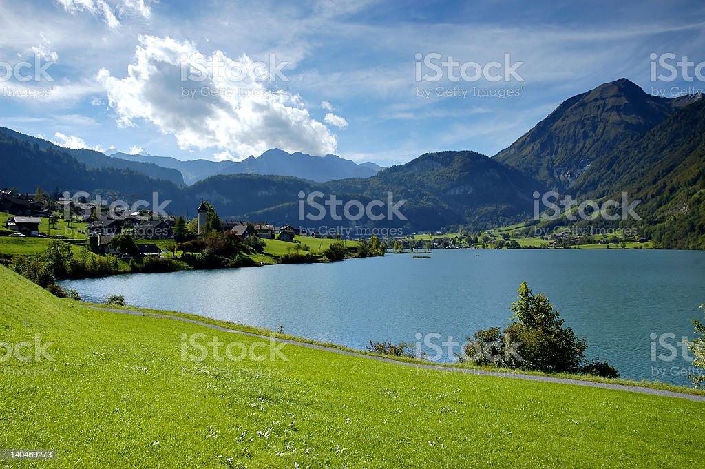 Mountains lake stock photo