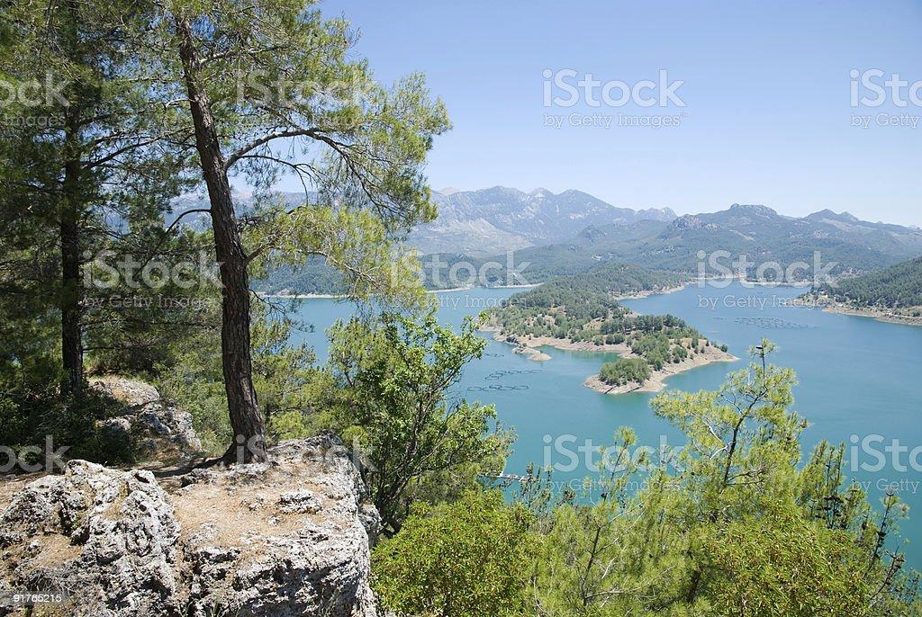 Montanhas o lago foto royalty-free