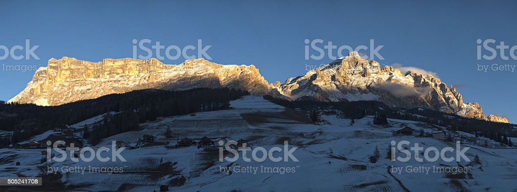 Mountains landscape at the sunset stock photo