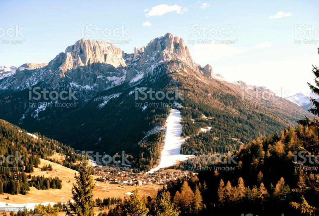 Mountains landscape, Dolomites, Italy stock photo