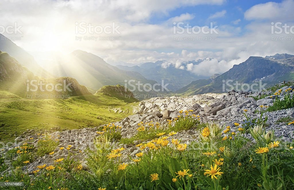 Mountains landscape stock photo