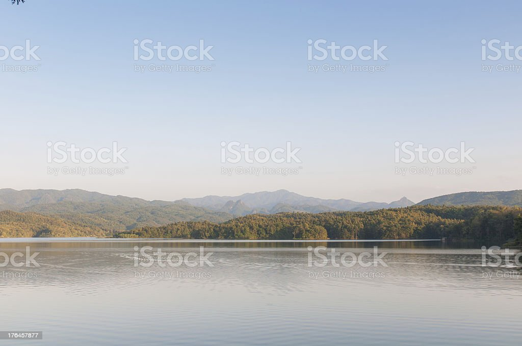 Mountains landscape with waters royalty-free stock photo