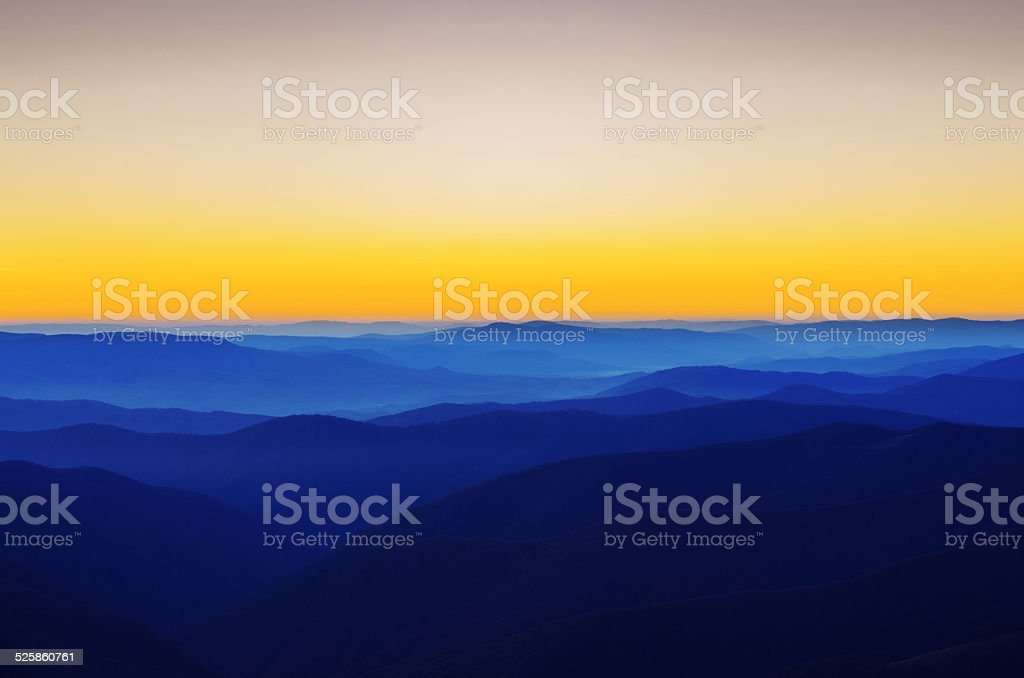 Mountains like a waves stock photo