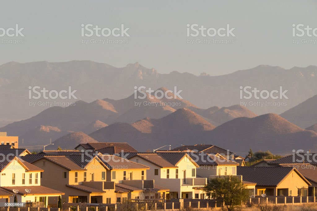 Mountains Looming stock photo