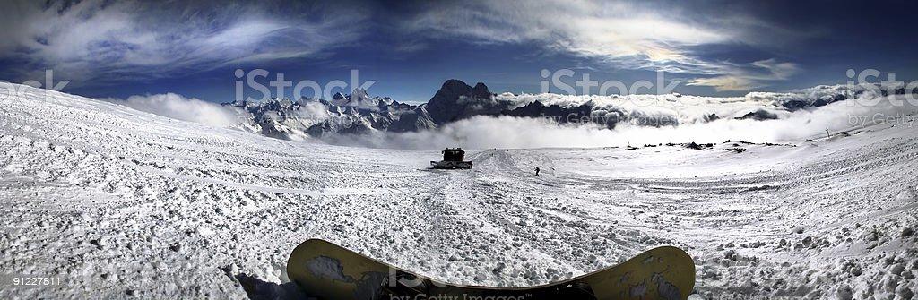 Mountains - main Caucasian ridge stock photo