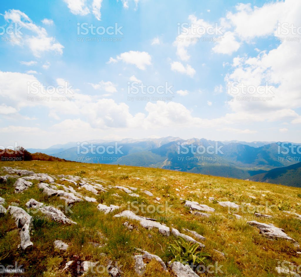 Mountains, National Park of Abruzzo, Italy stock photo