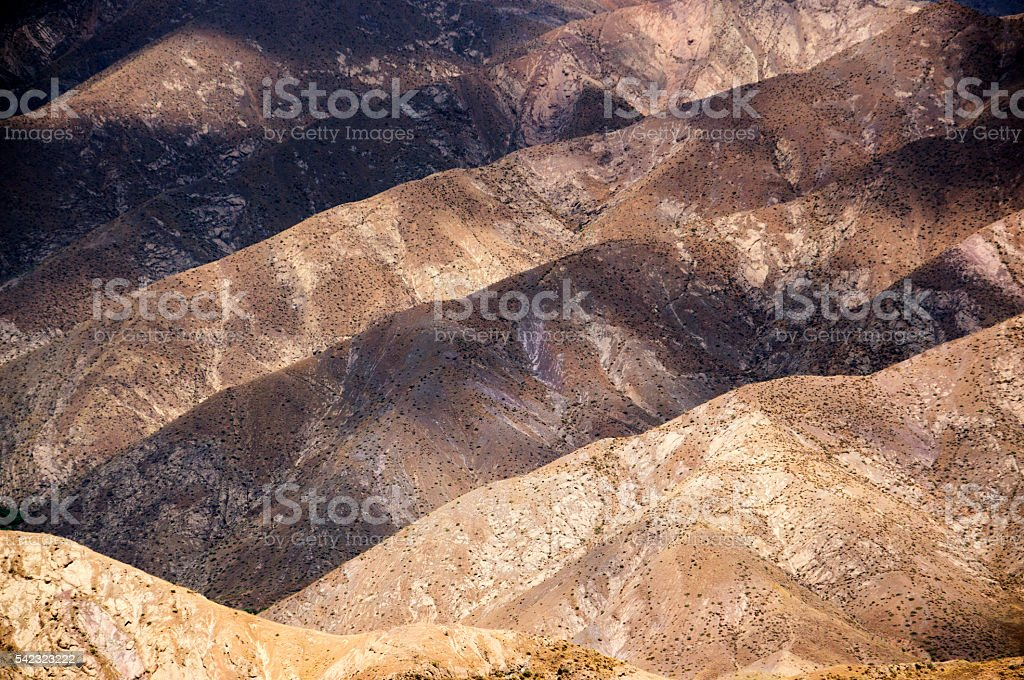 Mountains near Alamut, Castle of the Assassins in Iran stock photo