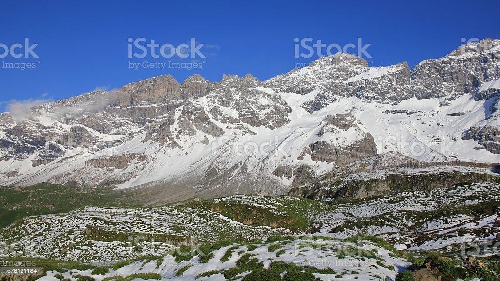 Mountains near Klausenpass stock photo