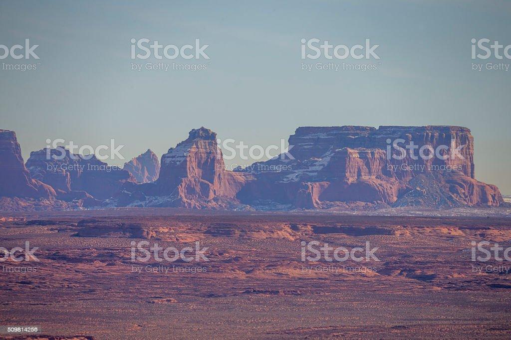 Mountains near Lake Powell, Page, Arizona stock photo