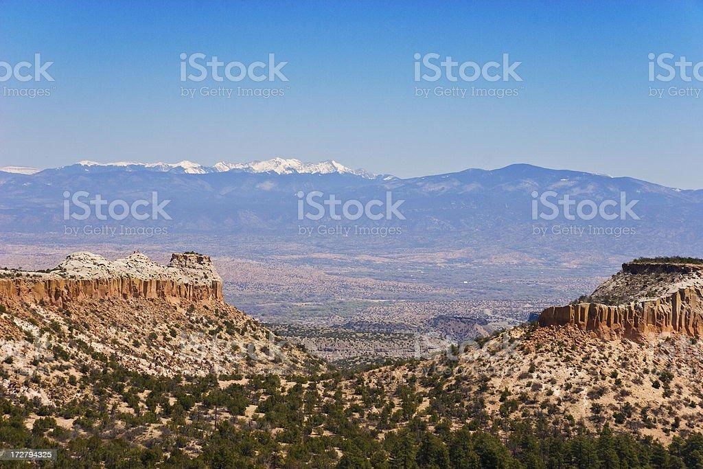Mountains Near Los Alamos royalty-free stock photo