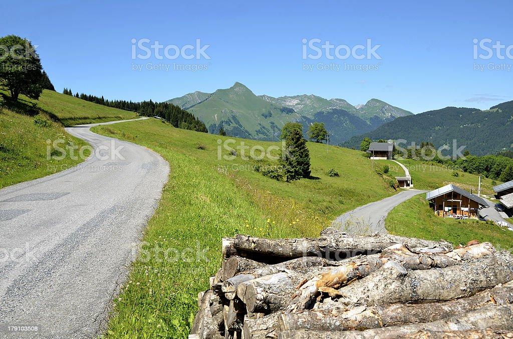 Mountains near Morzine in France stock photo