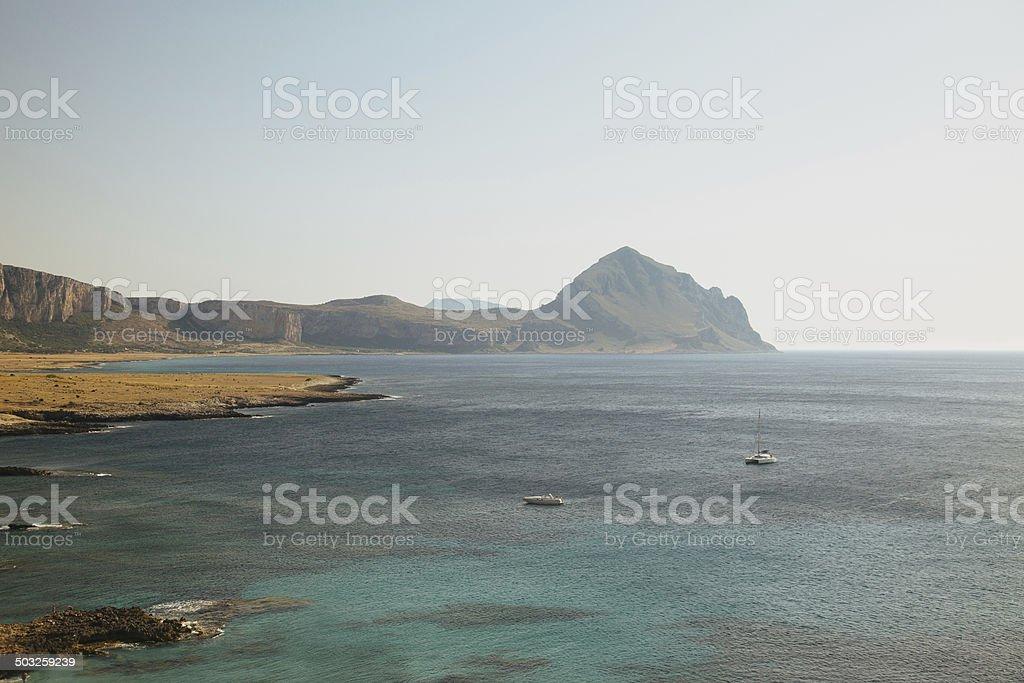 Mountains near San Vito Lo Capo, Sicily royalty-free stock photo