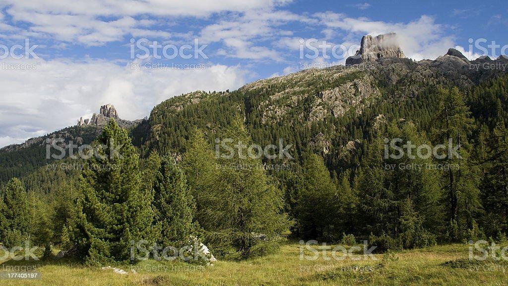 Mountains of Cortina d'Ampezzo stock photo