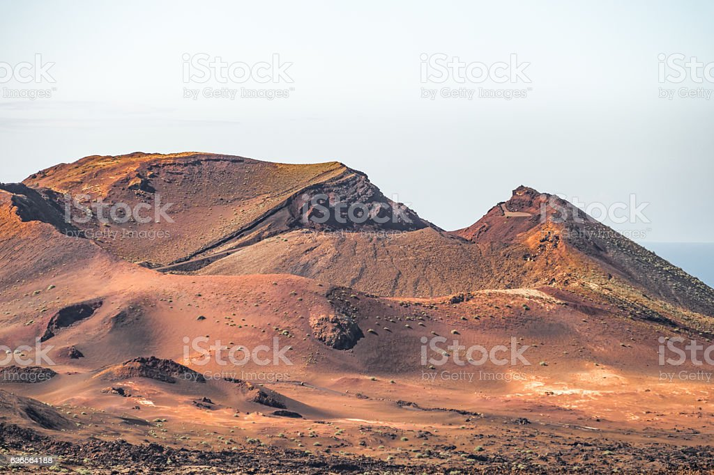 Mountains of Fire, Parque Nacional de Timanfaya, Lanzarote, Spai stock photo