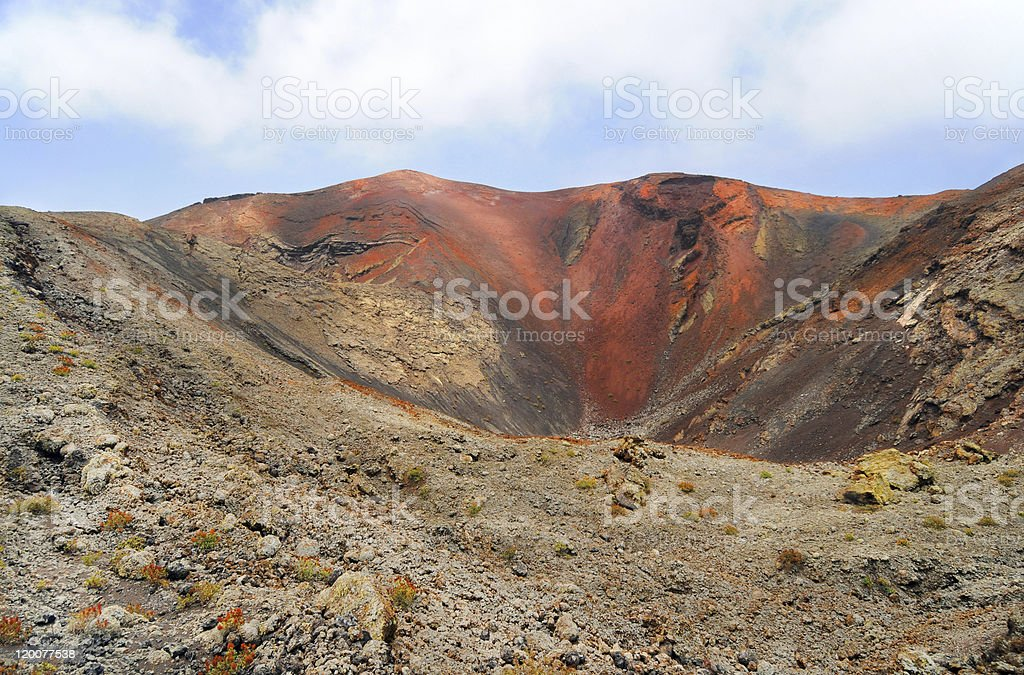 Mountains of fire,Timanfaya on Lanzarote stock photo